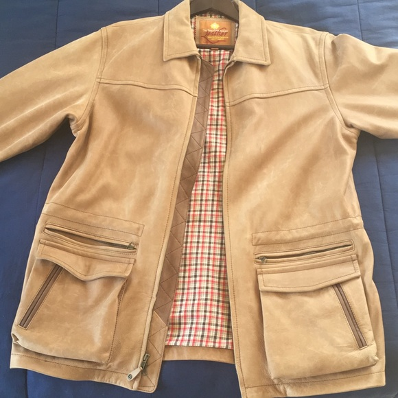 Other - Three quarter length leather jacket.
